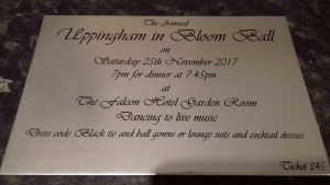 Uppingham in bloom ball