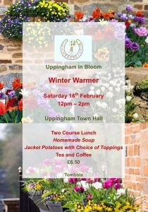 Uppingham in Bloom Winter Warmer Lunch